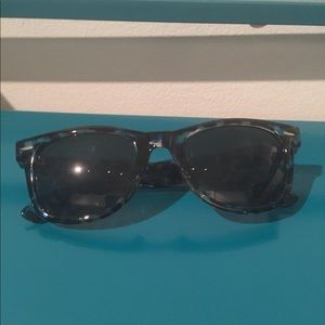 Blue Plastic Frame Sunglasses Urban Outfitters